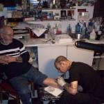 John on the tattoo training course